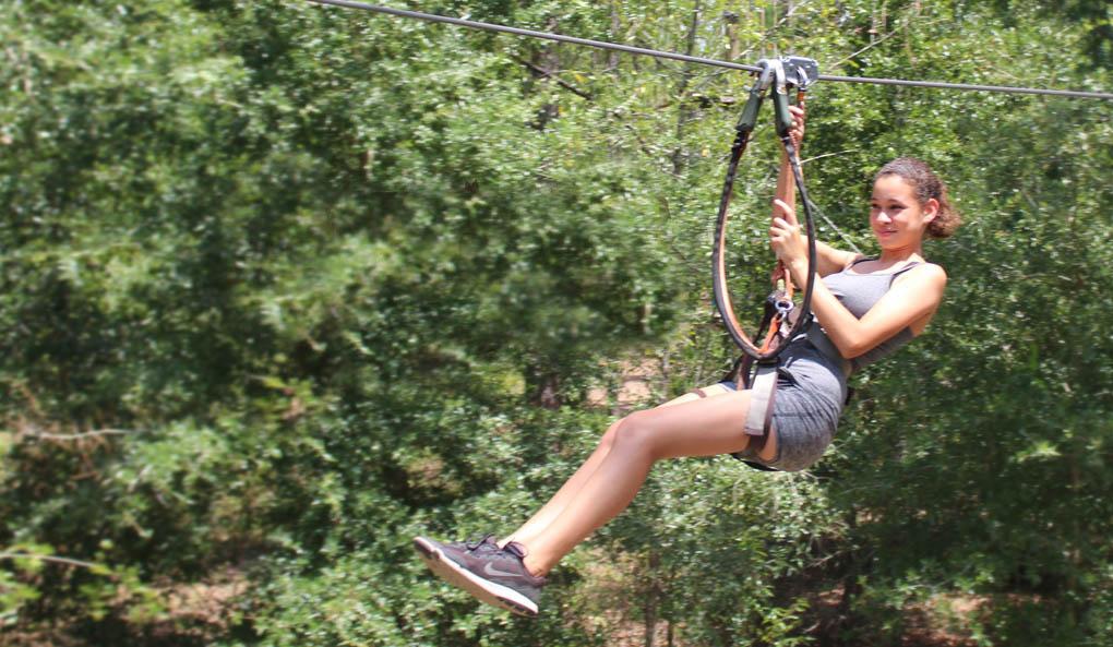 Girl Ziplining Orlando