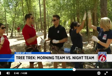 News 6 Anchors Battle it out on Ropes