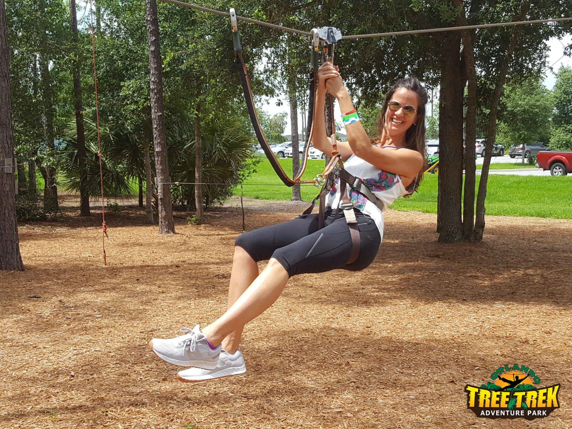 Guests enjoy ziplining throughout the year.