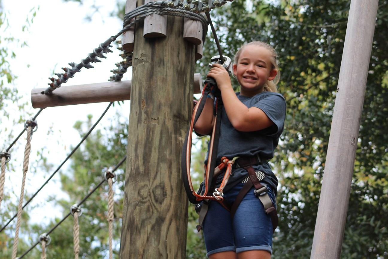 A child enjoying their Tree Trek adventure.
