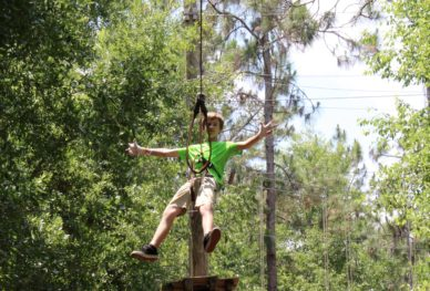 Boy zipling in Orlando