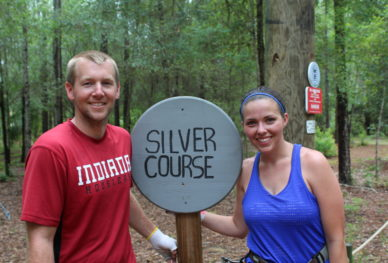 Couple at Orlando Tree Trek